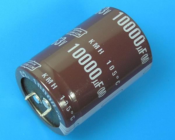 10000uF/63V - 105°C Nippon KMH kondenzátor elektrolytický