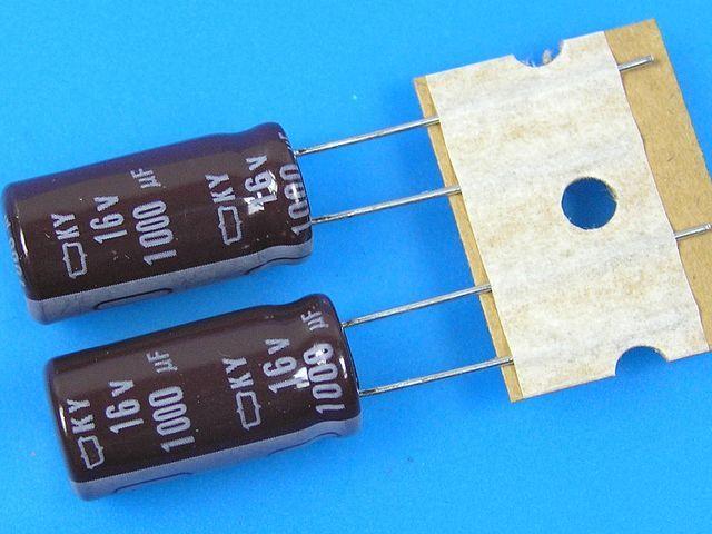 1000uF/16V - 105°C Nippon KY kondenzátor elektrolytický, low ESR, long life