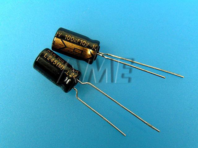 100uF/10V - 105°C Lelon RXK kondenzátor elektrolytický