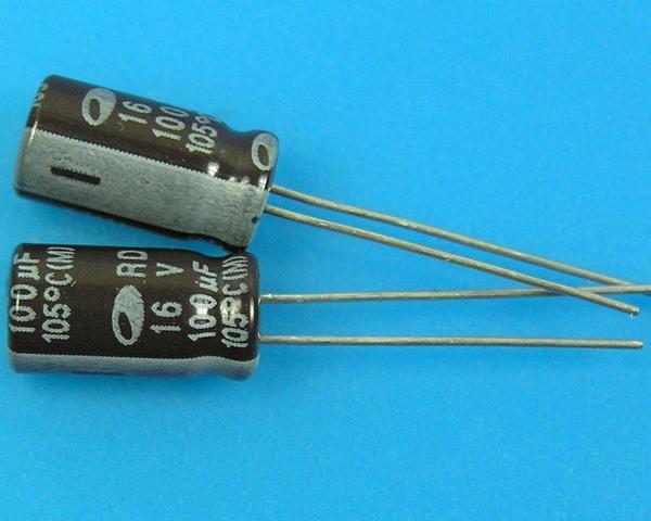 100uF/16V - 105°C Samwha RD kondenzátor elektrolytický