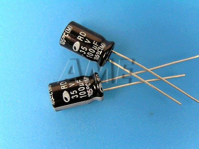 100uF/35V - 105°C Samwha RD kondenzátor elektrolytický