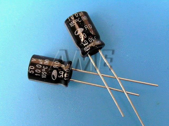 100uF/50V - 105°C Samwha RD kondenzátor elektrolytický