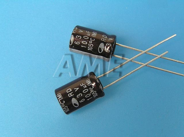 100uF/63V - 105°C Samwha RD kondenzátor elektrolytický