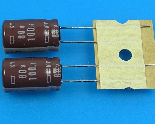 100uF/80V - 105°C Nippon KY kondenzátor elektrolytický, low ESR, long life