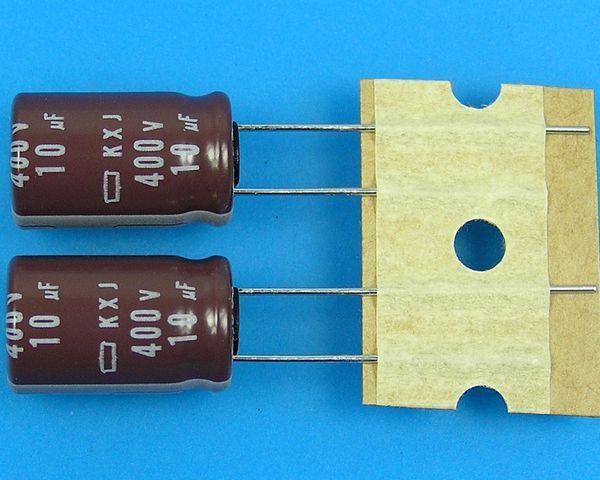 10uF/400V - 105°C Nippon KXJ kondenzátor elektrolytický low ESR, long life, high ripple current