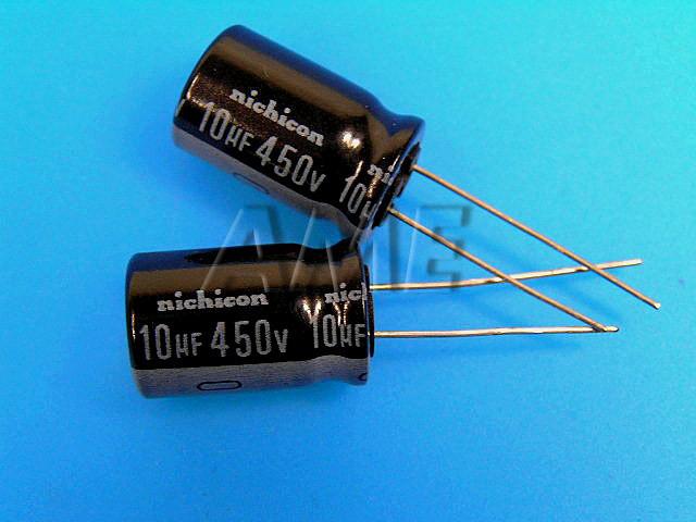 10uF/450V - 85°C Nichicon VR kondenzátor elektrolytický