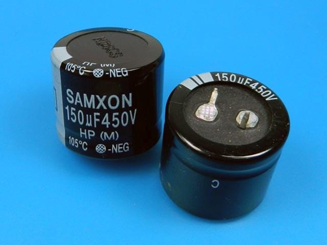 150uF/450V - 105°C Samxon HP kondenzátor elektrolytický