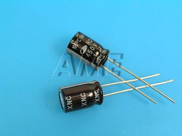 1uF/450V - 105°C Samwha RD kondenzátor elektrolytický