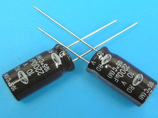 2200uF/10V - 105°C Samwha RD kondenzátor elektrolytický