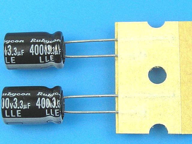 3,3uF/450V - 105°C Rubycon LLE kondenzátor elektrolytický, long life