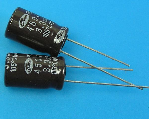 3,3uF/450V - 105°C Samwha RD kondenzátor elektrolytický