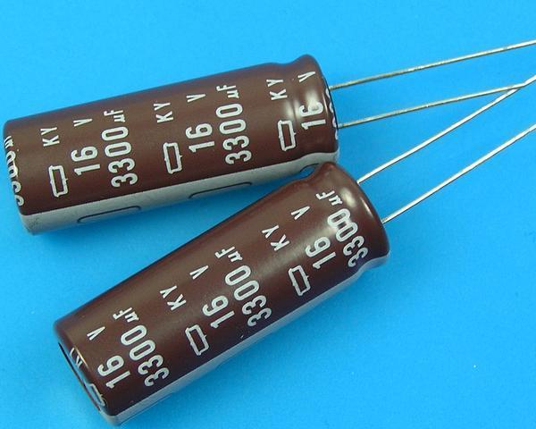 3300uF/16V - 105°C Nippon KY kondenzátor elektrolytický, low ESR, long life