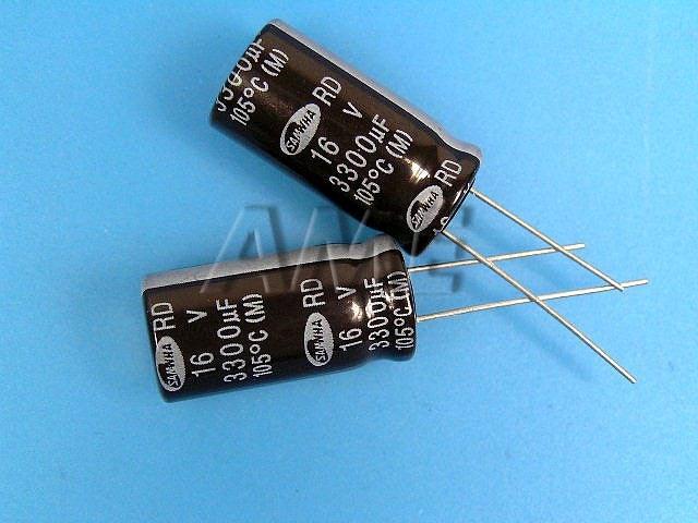 3300uF/16V - 105°C Samwha RD kondenzátor elektrolytický