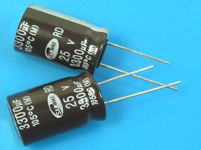 3300uF/25V - 105°C Samwha RD kondenzátor elektrolytický