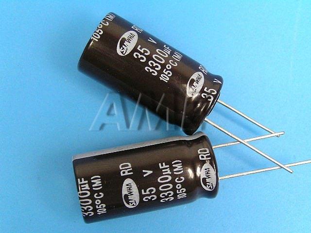 3300uF/35V - 105°C Samwha RD kondenzátor elektrolytický