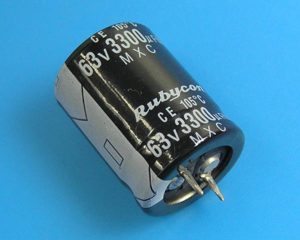 3300uF/63V - 105°C Rubycon MXC kondenzátor elektrolytický