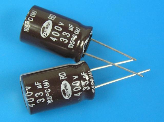 33uF/400V - 105°C Samwha RD kondenzátor elektrolytický