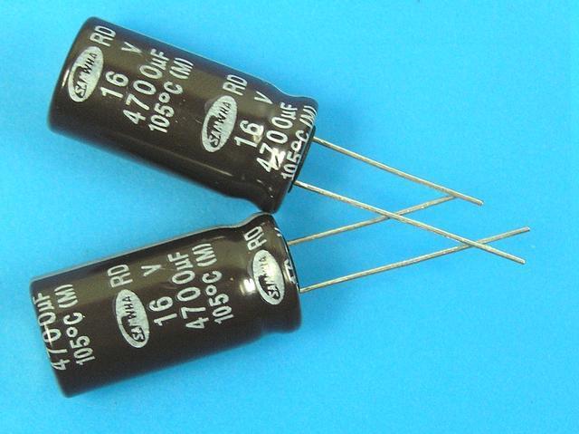 4700uF/16V - 105°C Samwha RD kondenzátor elektrolytický