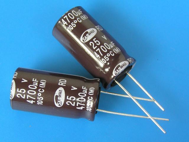 4700uF/25V - 105°C Samwha RD kondenzátor elektrolytický