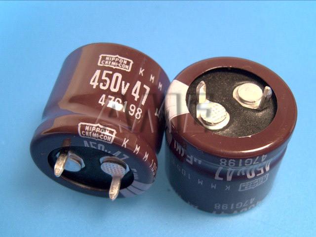 47uF/400V - 105°C Nippon KMM kondenzátor elektrolytický