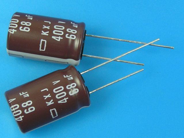 68uF/400V - 105°C Nippon KXJ kondenzátor elektrolytický low ESR, long life, high ripple current