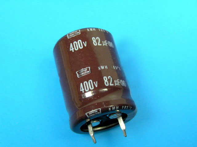82uF/400V - 105°C Nippon KMH kondenzátor elektrolytický