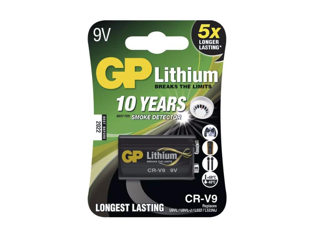9V Baterie PHILIPS 6FR61 / 6LR61 / 6F22 Lithium Ultra 6FR61LB1A/10