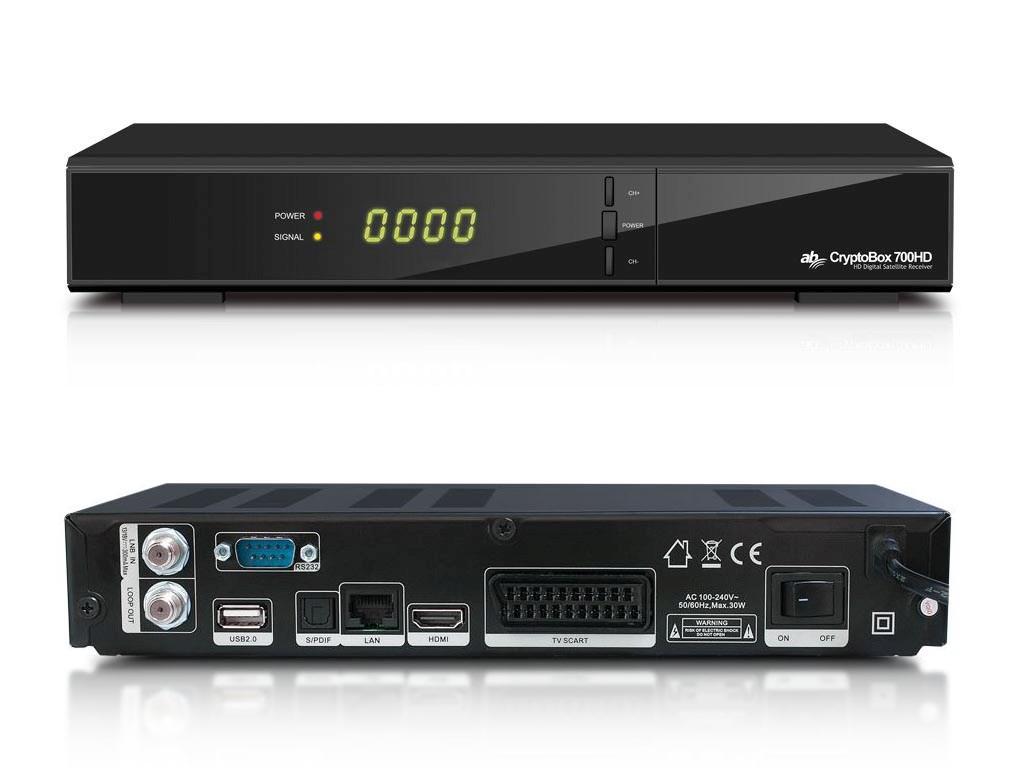 AB CryptoBox 700HD satelitní přijímač DVB-S2 FastScan
