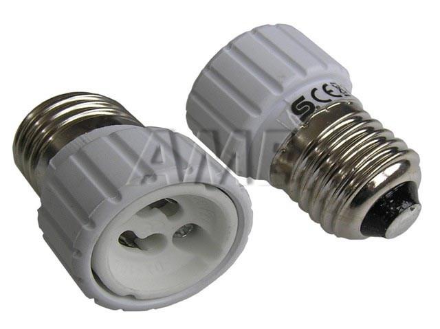 Adapter E27 / GU10 - redukce pro halogenky s paticí GU10 / E27