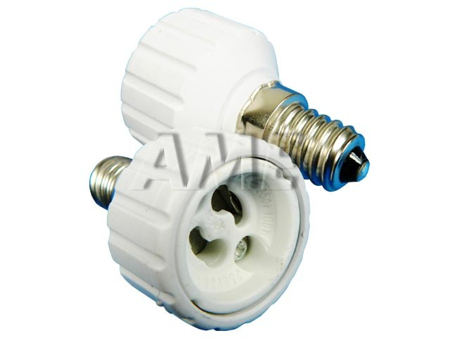 Adapter GU10 / E14 - redukce pro žárovky s paticí E14 / GU10