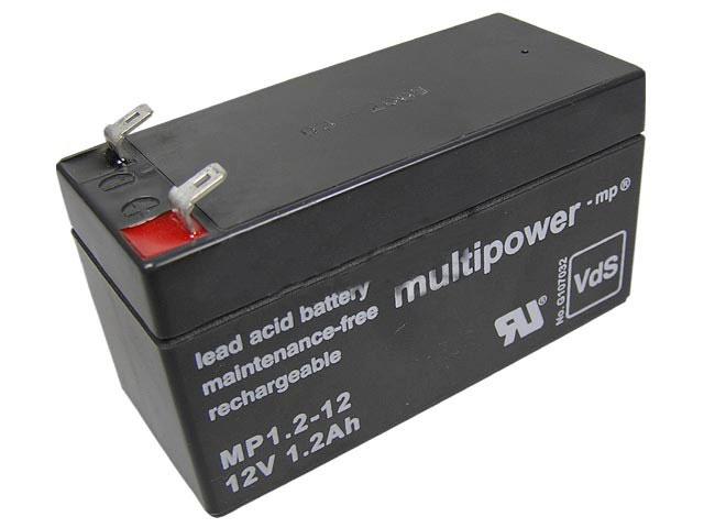 Akumulátor 12V / 1,2Ah olověný - Multipower