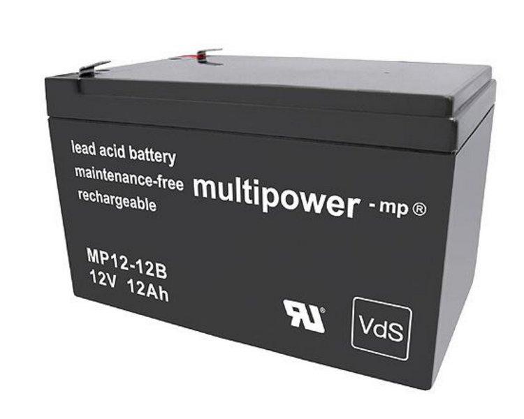 Akumulátor 12V / 12Ah olověný - MP12-12B Multipower