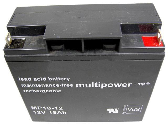 Akumulátor 12V / 18Ah olověný - Multipower
