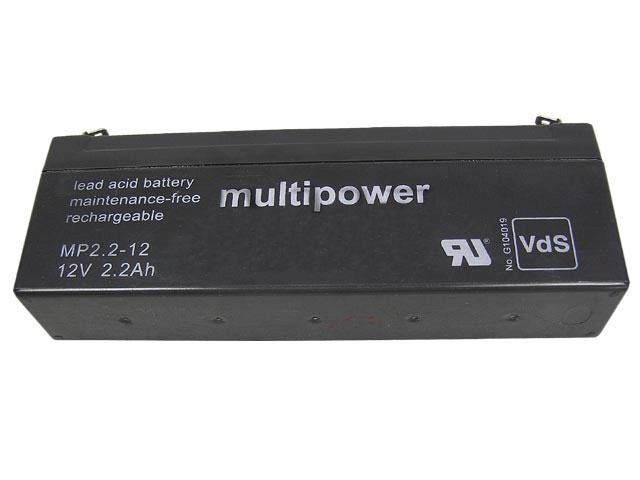 Akumulátor 12V / 2,2Ah olověný - MP2.2-12 Multipower