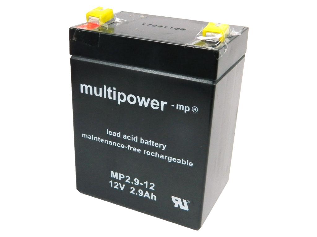 Akumulátor 12V / 2,9Ah olověný - Multipower