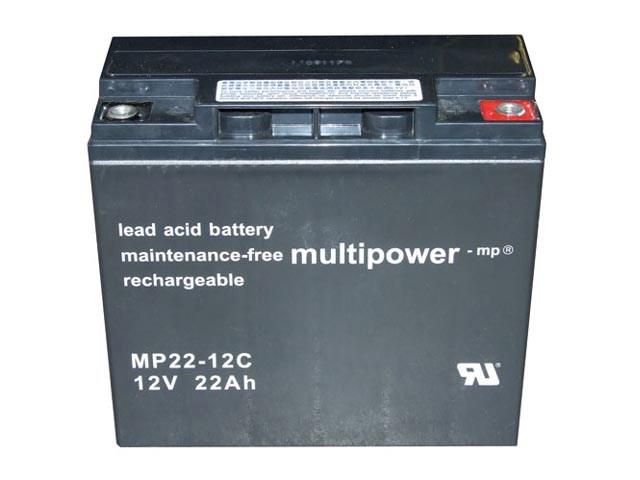 Akumulátor 12V / 22Ah olověný - MP22-12C, MP2212C Multipower