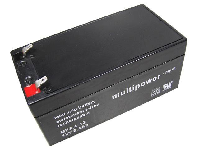 Akumulátor 12V / 3,4Ah olověný - Multipower