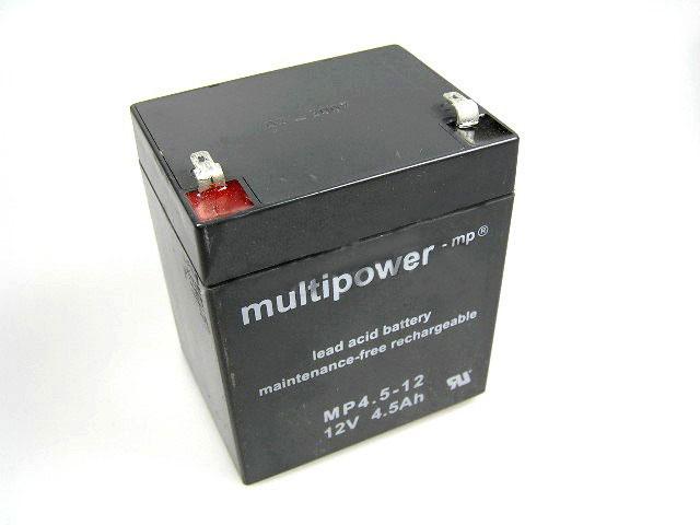Akumulátor 12V / 4,5Ah olověný - Multipower