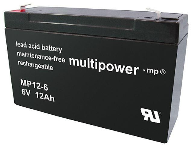 Akumulátor 6V / 12Ah olověný - MP12-6 Mulipower