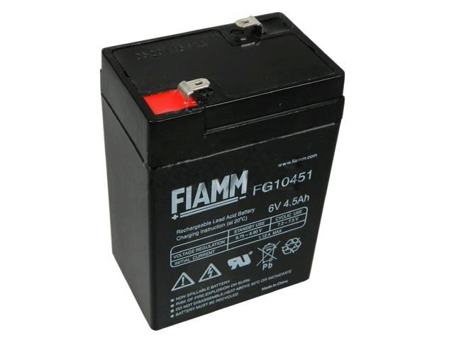 Akumulátor 6V / 4,5Ah olověný - FG10451 FIAMM