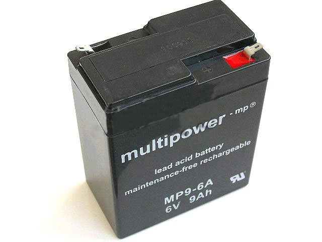 Akumulátor 6V / 9,0Ah olověný - Multipower