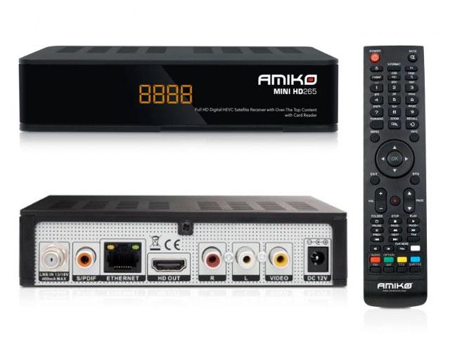 Amiko SHD8550 IR satelitní přijímač DVB-S2 FastScan Skylink Ready