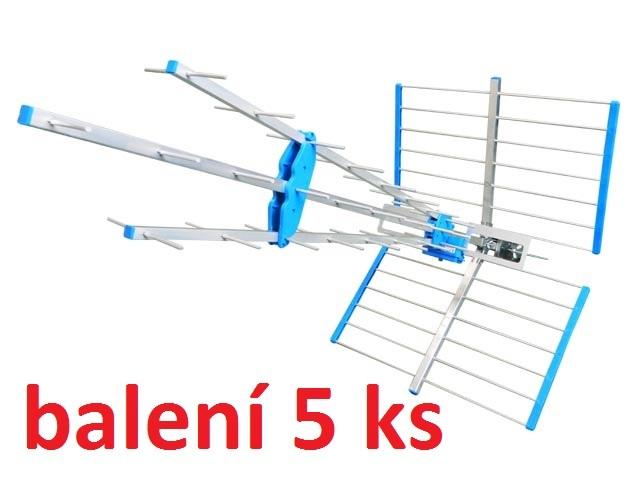 Anténa 45SLC Super Emme Esse pro DVB-T / DVBT balení 5 ks