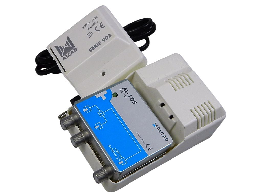 Anténní napaječ 12V / 100mA ALCAD AL-105 zdroj pro AM zesilovače