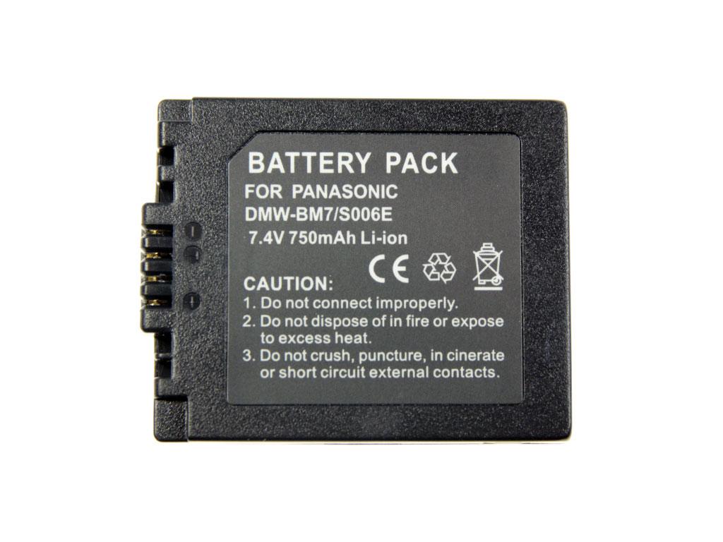 Baterie Panasonic DMWBMA7, DMW-BMA7 akumulátor