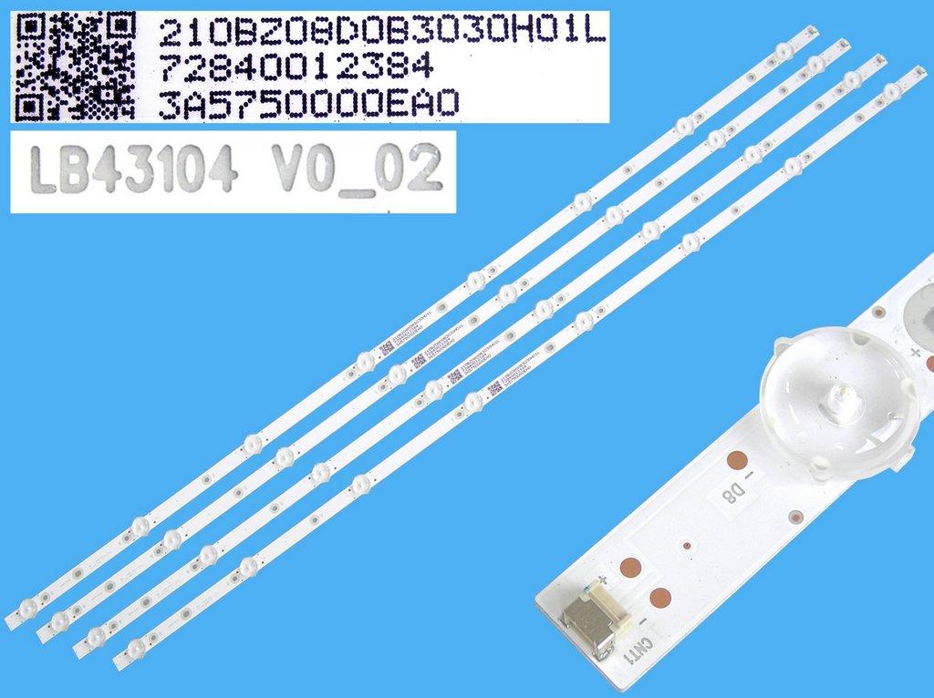 CCFL trubice backlight podsvícení d=3,4mm, l=860mm, tvar I-FORM / CCFL lampa