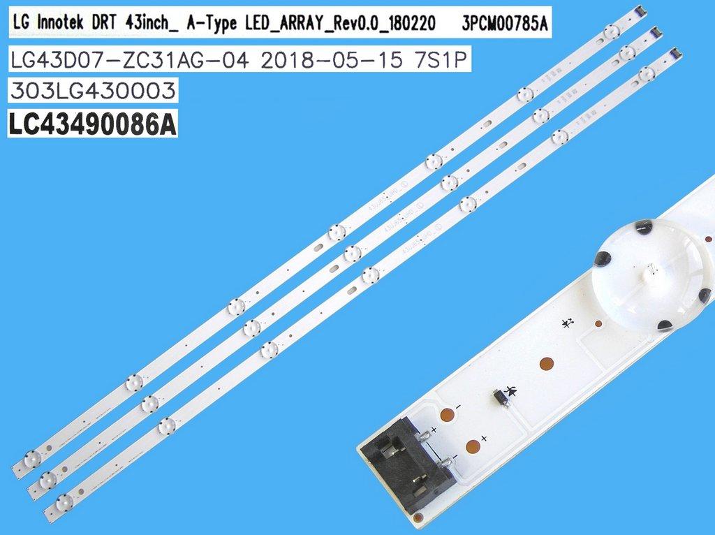 CCFL trubice backlight podsvícení d=3mm, l=722mm, tvar I-FORM / CCFL lampa