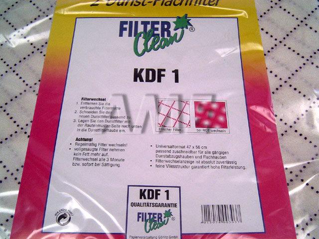 Filtr pro zachytávání mastnoty KDF1 pro digestoře