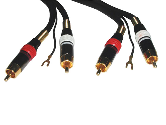 Kabel 2xCINCH / 2xCINCH HiFi 1.5m + zemnící vodič