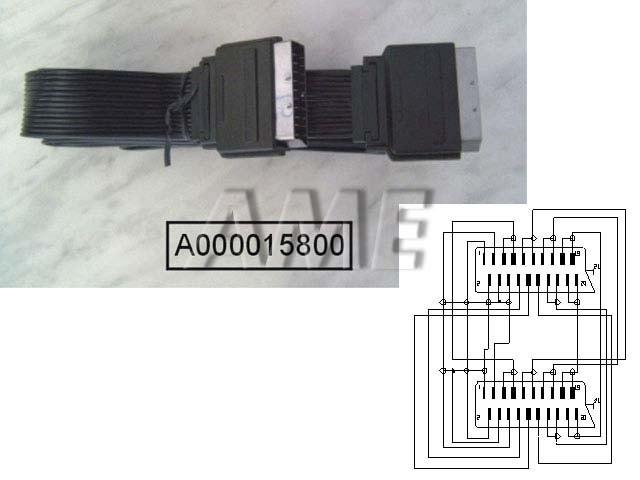Kabel SCART / SCART plochý 2m
